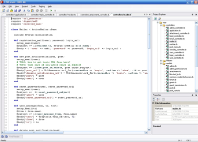 ... ide and development environment for ruby on rails though it ll work
