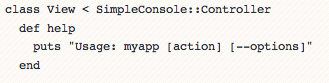 Simpleconsole